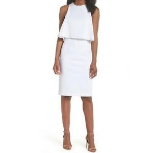 Chelsea28 offwhite double layered textured Dress